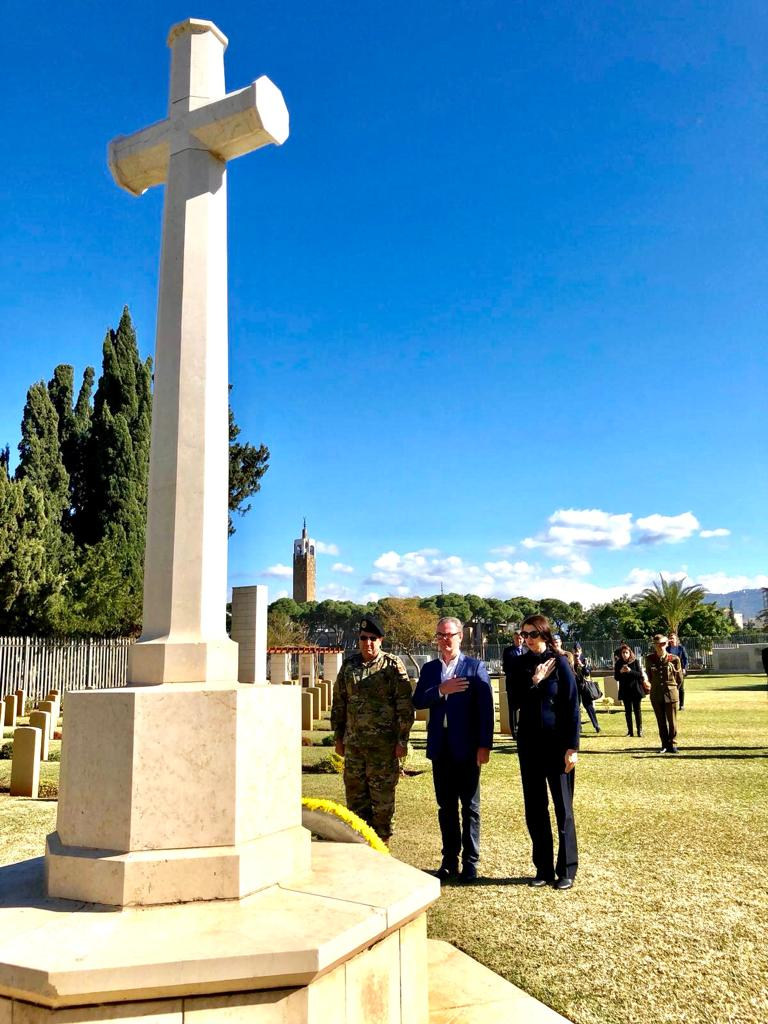 I had the honour of visiting the Beirut War Cemetery and laying a wreath at the Commonwealth War Graves. I also laid a cross at the grave of Bombardier Nicholas George Koorey who was the first Austrlian killed in the campaign in Syria during World War II. #auspol
