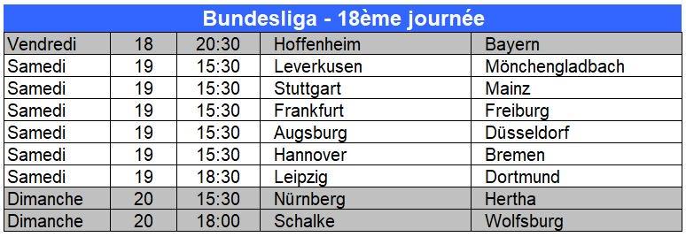 Hourra ! Hourra ! La #Bundesliga est à nouveau là ! Avec #Hoffenheim (7ème) - #Bayern (2ème) en ouverture vendredi puis notamment #RBLeipzig (4ème) - #Dortmund (1er) et le derby #Leverkusen (9ème) - #Gladbach (3ème). Le programme ⬇️
