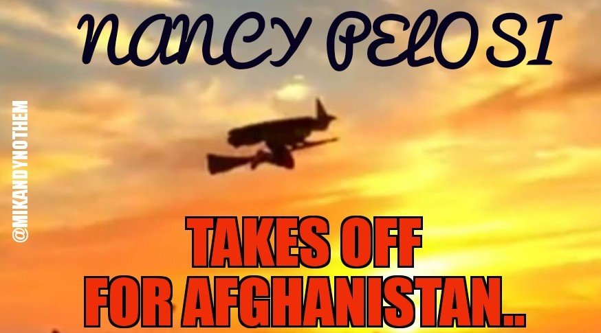 Nancy Pelosi decided to show President Trump that she needs no military transport or commercial airline to fly to Afghanistan.   Good for her...  #MAGA #tcot #FoxNews #FridayFeeling #FridayMorning<br>http://pic.twitter.com/VU9N7hNYJf
