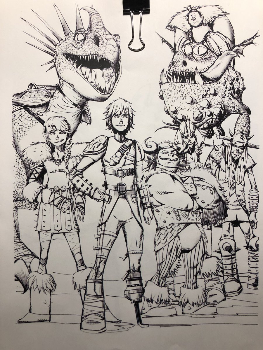 All this #releasethefiretides talk had me go back and look at some of the earliest #HTTYD  comic art explorations — like this beauty from @ericnguyenart. So cool. <br>http://pic.twitter.com/KERMej3ZCI