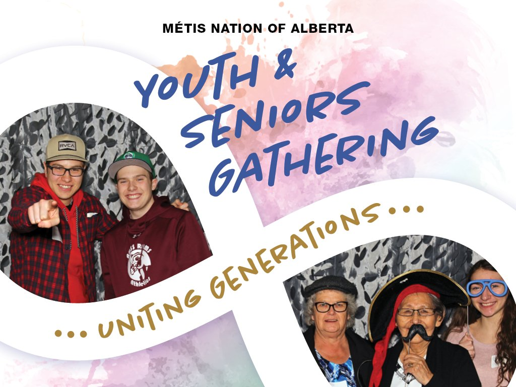Registration is full for our Youth and Seniors Gathering but you can livestream the whole event! Tune in tomorrow, Saturday, or Sunday for entertainment, speakers, cultural workshops, and more. Livestream links and schedule here: http://albertametis.com/3rd-annual-youth-and-seniors-gathering/… #unitingourgenerations