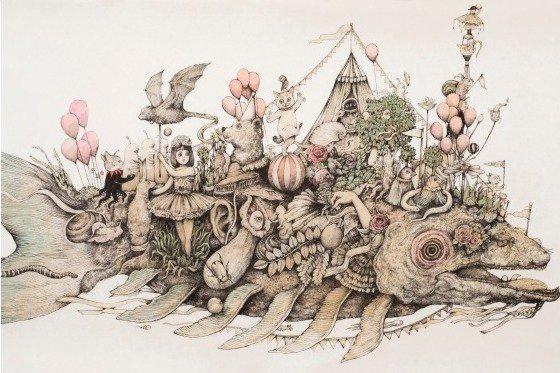 [明日から開催] 「ヒグチユウコ展 CIRCUS」東京・世田谷で - 自身初の大規模個展、絵本原画など500点超が集結 - https://t.co/BJaTiMgTmI