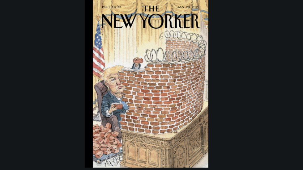 New Yorker cover shows Trump 'walled in' amid shutdown https://t.co/g3aHGk6wTY
