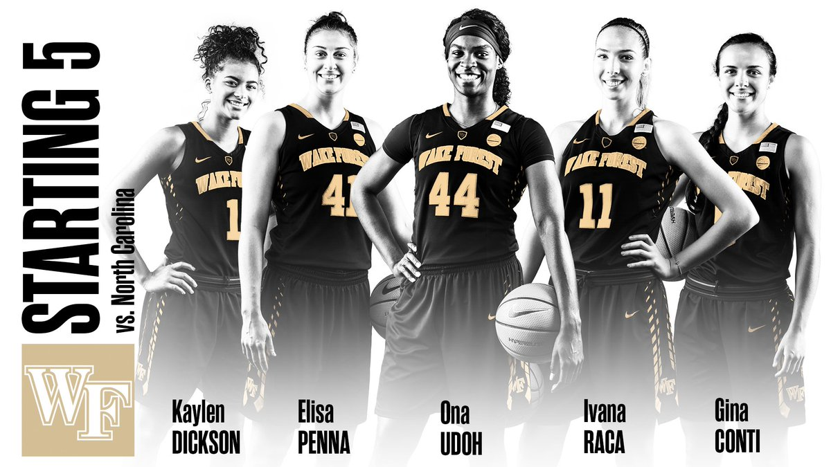 RT @WakeWBB: Here's how the Deacs will take the court tonight against the Tar Heels! #GoDeacs https://t.co/gy41I5B4am