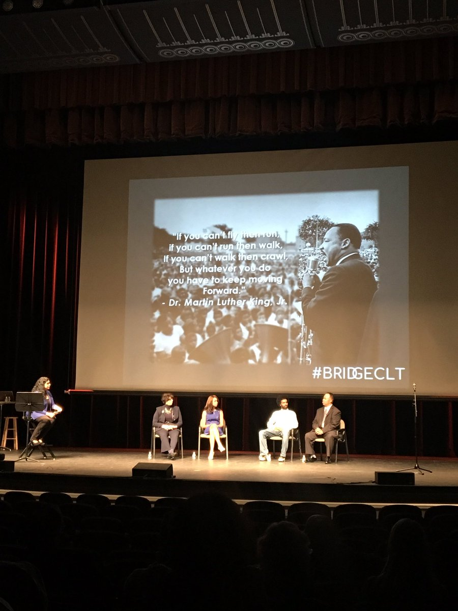 Powerful panel of dynamic leaders sharing their journey to access and opportunity. #BridgeCLT <br>http://pic.twitter.com/hsR4SnHkTc