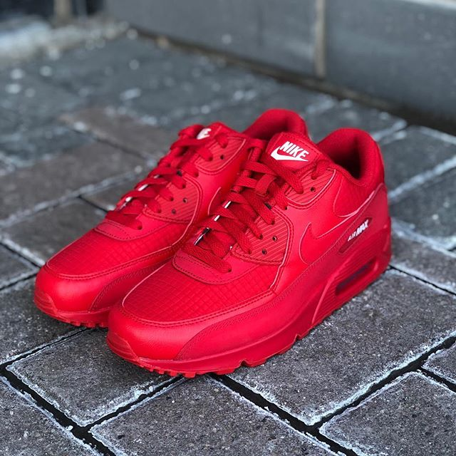 "ae7d1b3c055f Spring 2019 Collection Mens Nike Air Max 90 ""University Red"" AJ1285-602   145.00 CAD Available in all store locations and on  http   ow.ly yyD630nm7T2 Free ..."