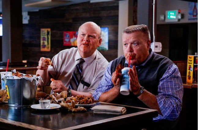 Joel and I will be live tweeting tonight's episode with help from tech nerds so we won't have to wash our hands. Oh yes, wings will be involved. @nbcbrooklyn99 #Brooklyn99 <br>http://pic.twitter.com/X0BEhB7k9l