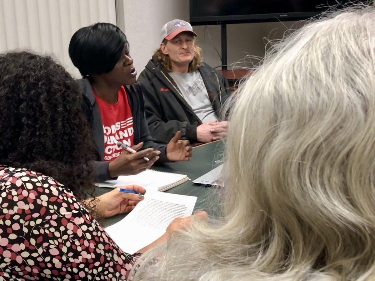 HAPPENING NOW: Danville community members brainstorm ways to tackle gun violence. @MomsDemand – at Danville Public Library