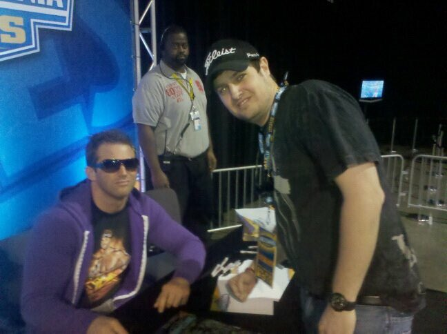 I'll have to to say since this pic @ZackRyder has came along way #9pmAxxes #BroskiNotHappy #WM27 #ATL @MajorWFPod