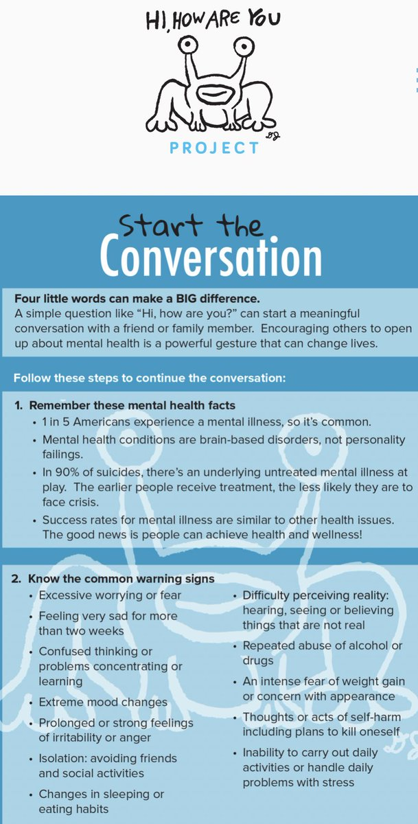 """Attention DHS  **Tuesday January 22nd is Mental Health Wellness Day!  Join the  """"HI HOW ARE YOU PROJECT""""  and make a difference by helping #startaconversation   **WEAR GREEN**Jan.22<br>http://pic.twitter.com/4rs3fIcUpi"""