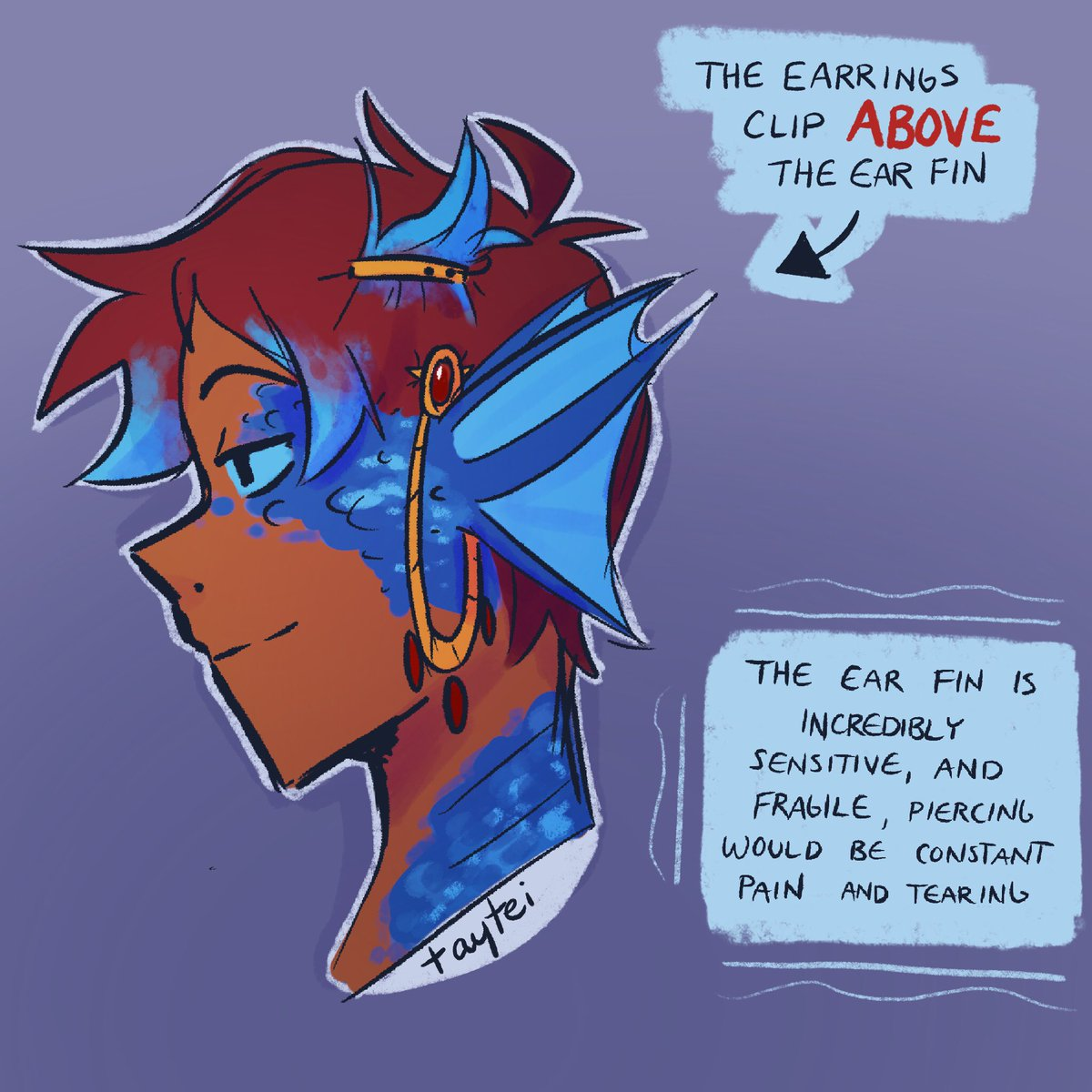 Someone asked how earrings worked with Lance's ears, so boom. I decided to make art for it apparently   (I'm gonna make this into a sticker gskejfjfkh) <br>http://pic.twitter.com/x5nlGFilKg
