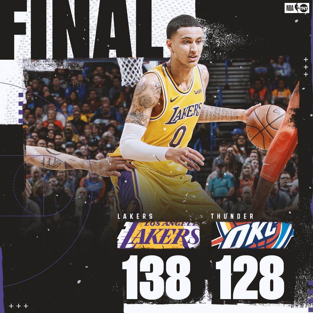 The @Lakers come back from 17 down to defeat the Thunder in OT! 🔥  #LakeShow