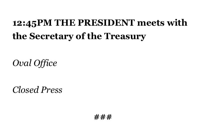One item on @POTUS announced schedule for Friday.
