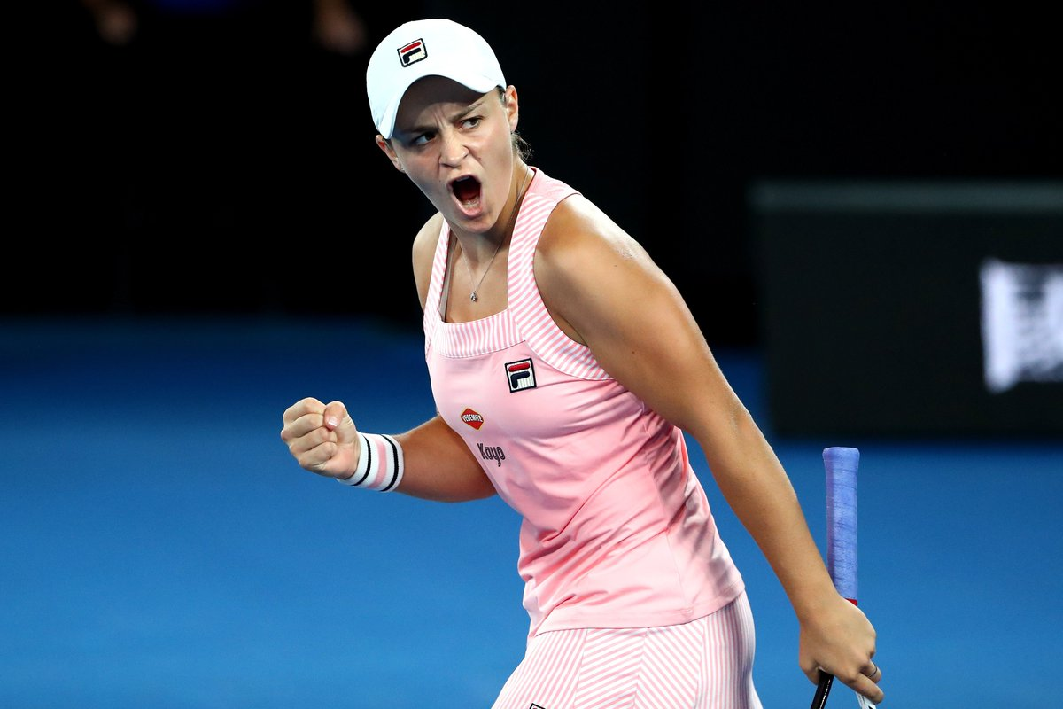We'd be #AOFiredUp too if we were the first player through to the 4R!  Def. Sakkari 7-5 6-1 #GameSetMatch  #AusOpen