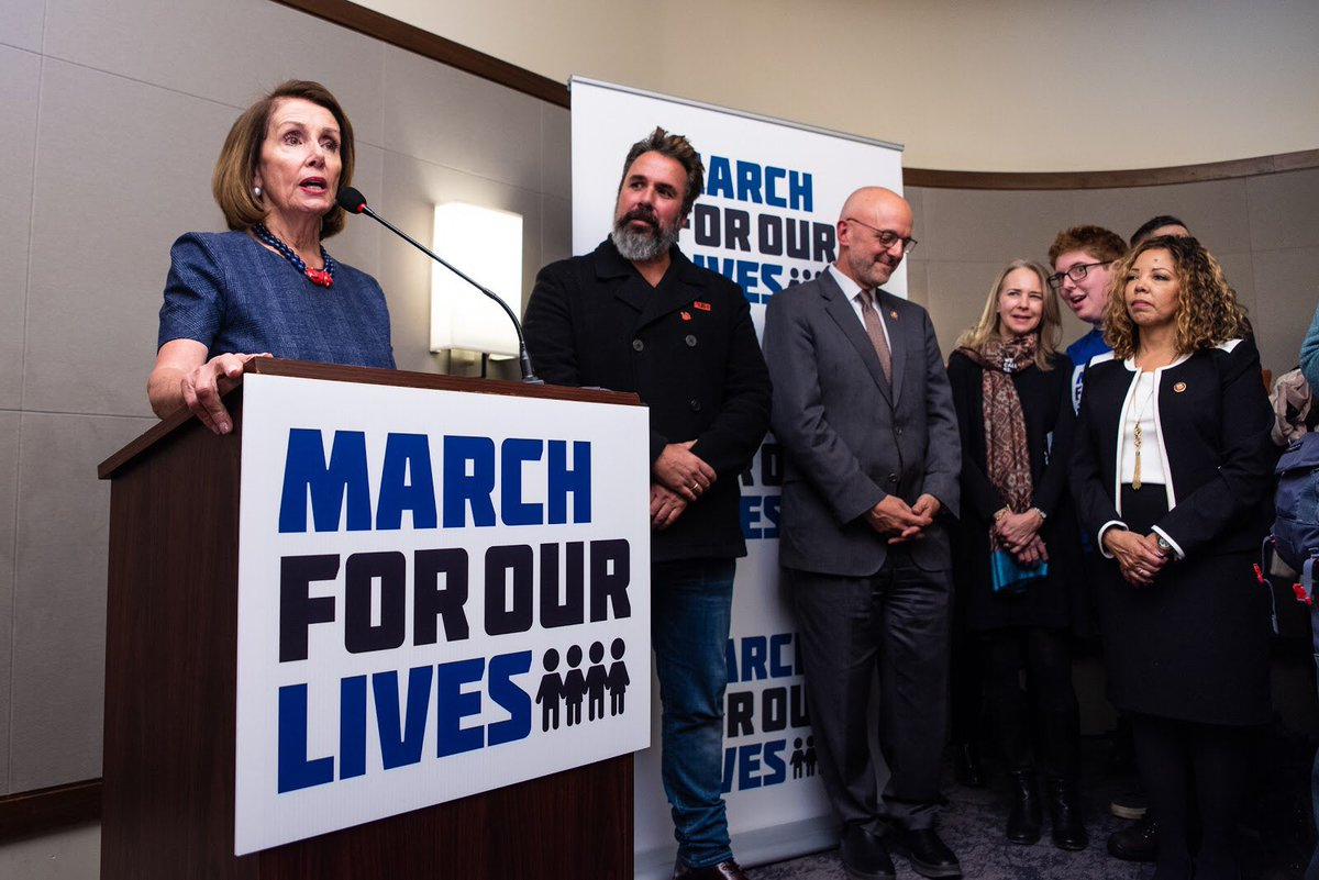 """""""To every elected official in Congress, we say to you: your political life is insignificant compared to the lives of people who will be saved if you have the courage to vote the way you should."""" - Speaker Pelosi🔥, on gun violence prevention legislation."""