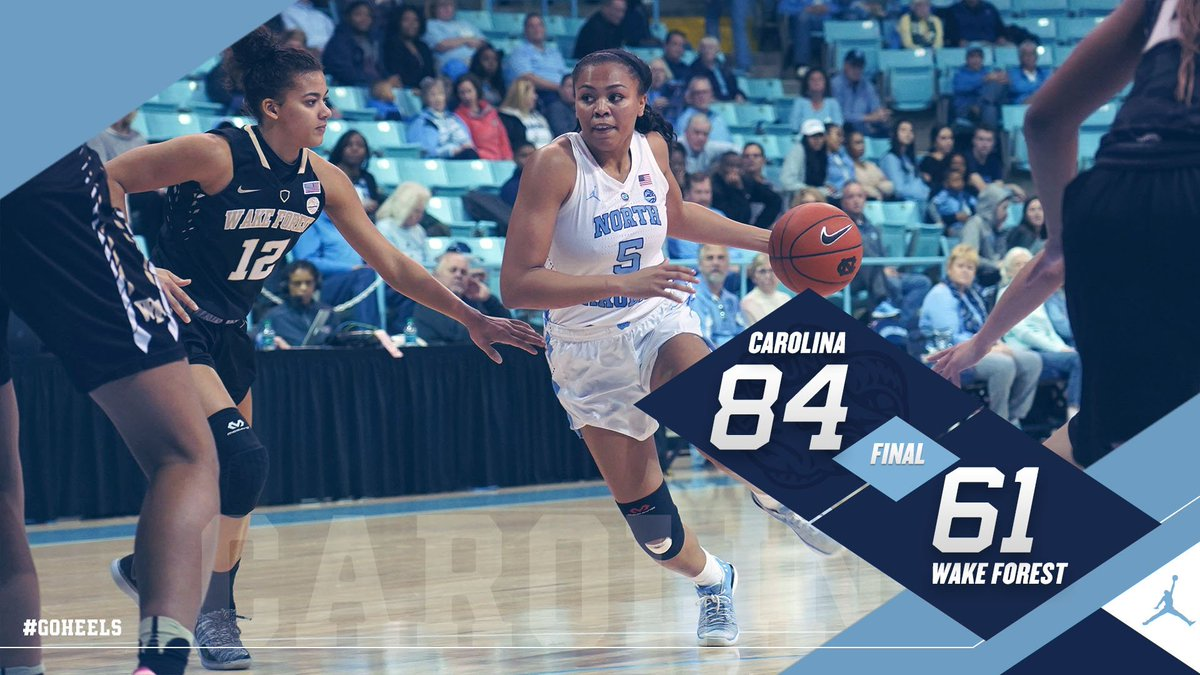 Final from Chapel Hill  #GoHeels https://t.co/ew5EZ32bt6