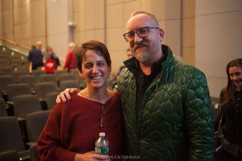 """...and thanks, @erynecki, for sharing this @ChuckFishman photo of us after the screening of your documentary """"Chasing Portraits"""" in NYC. Her film was recently picked up for distribution by @FirstRun, so keep an eye out for it. #NYJFF  – at Film Society of Lincoln Center"""