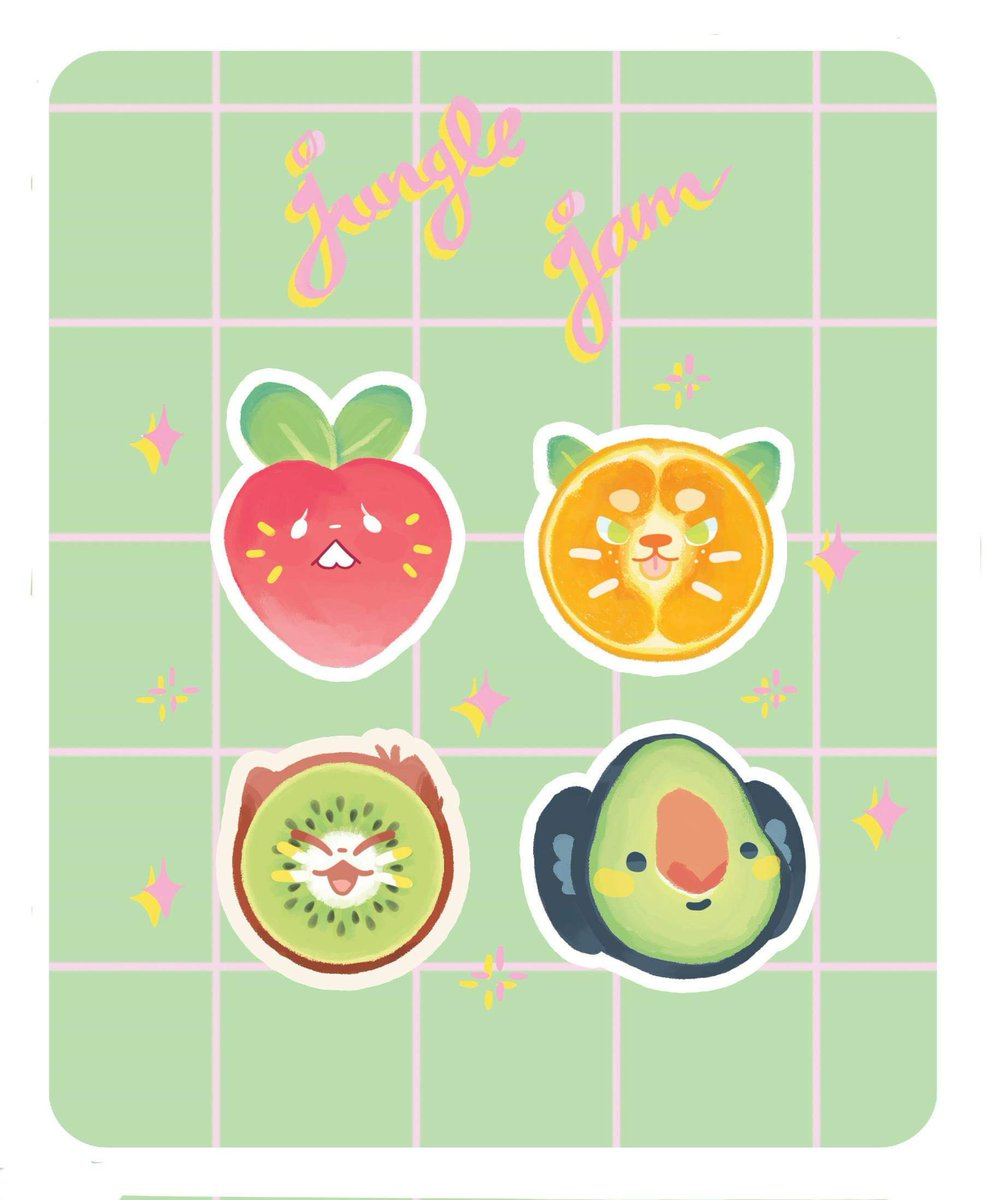 Stickers artistsontwitter illustrations ganime drawingpic twitter com i3co8hbwom