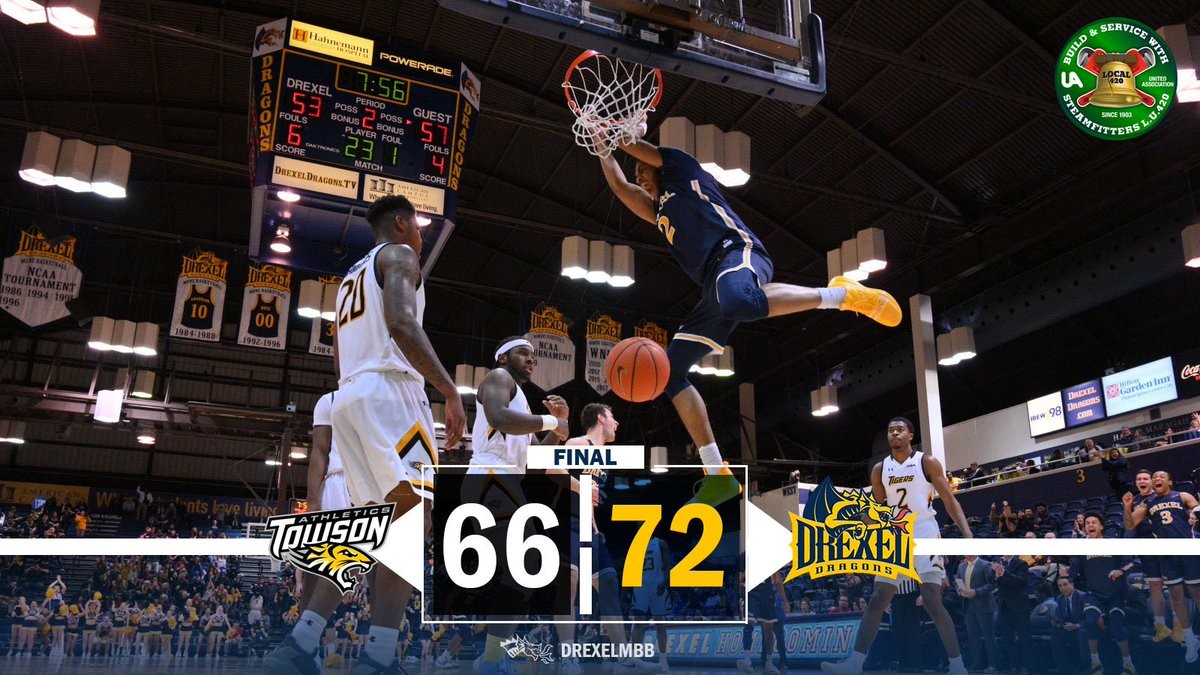 DREXEL WINS!  There was a late 18-2 run in that second-half comeback victory  <br>http://pic.twitter.com/an73aeaYq0
