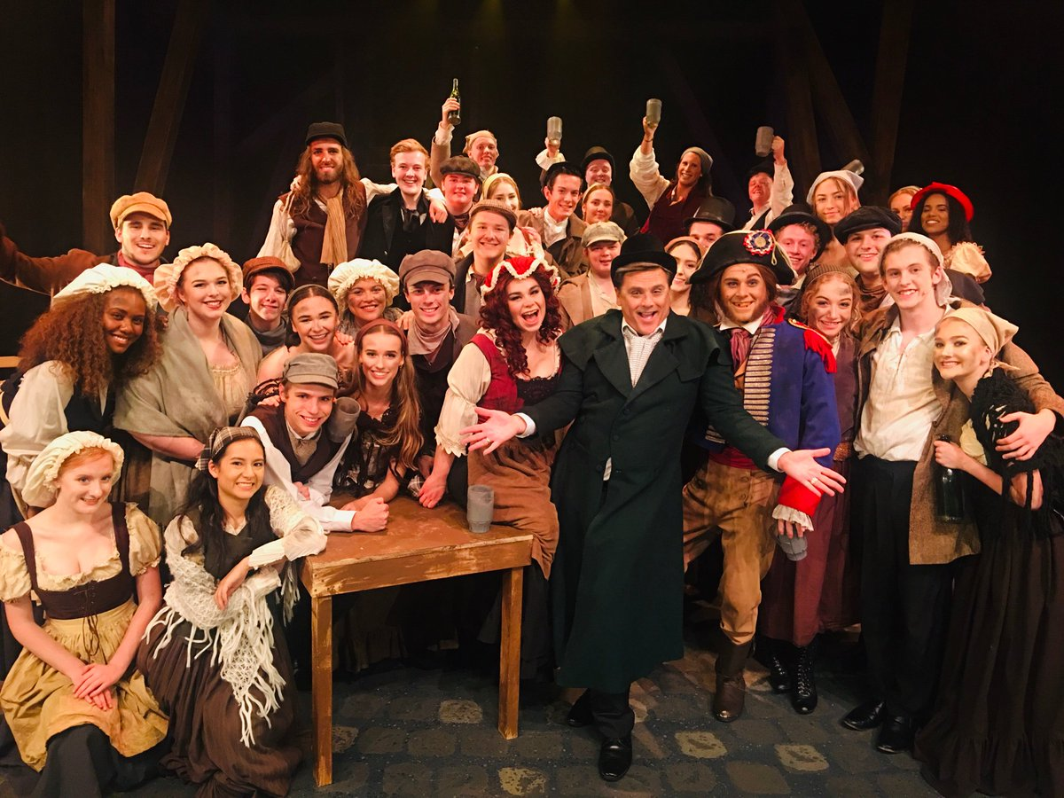 What a happy traveller! I join the cast of Les Mis! Check-out all the fun on @9NewsMelb with @phitchener9 at 6pm