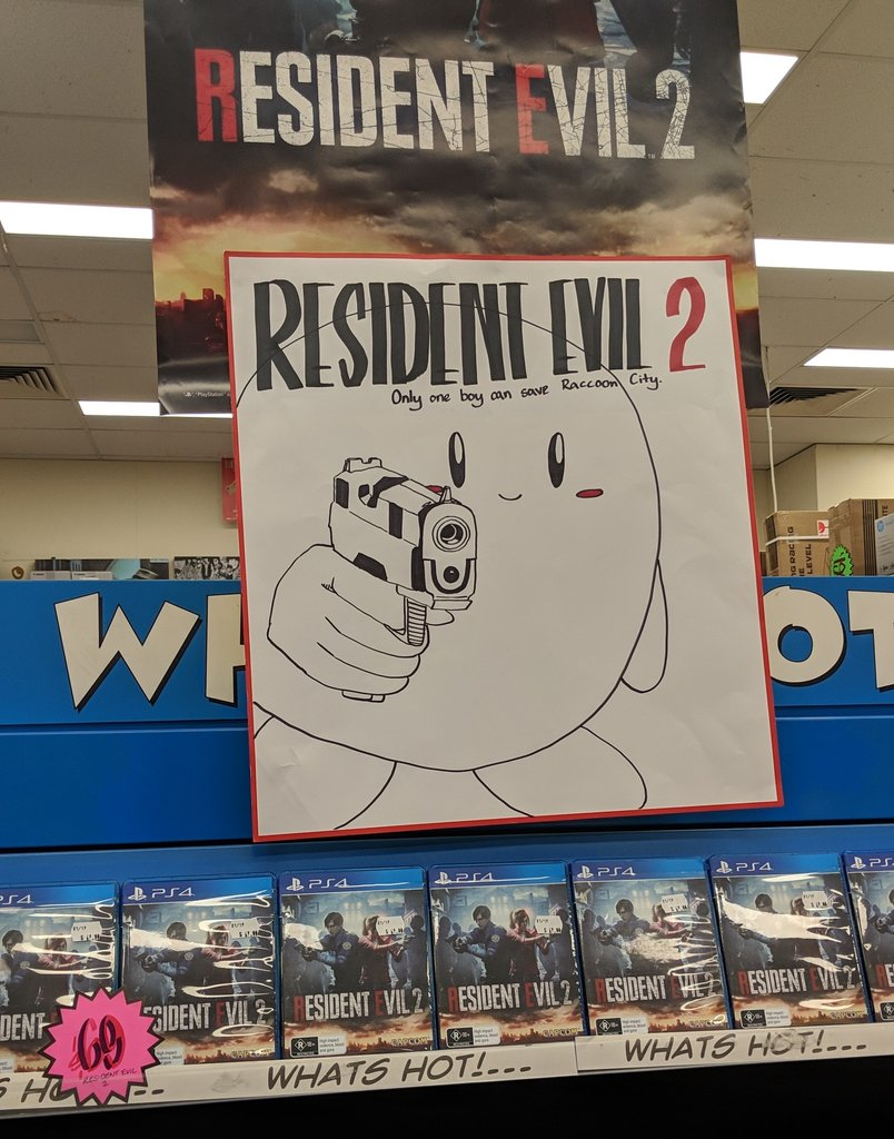 RT @rubyinnes: for some reason i was allowed to draw a poster for resident evil 2 at work, so here it is https://t.co/3S61ajcVCM