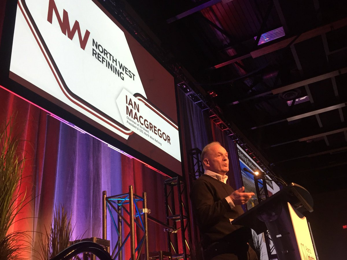 """""""I started off thinking I was in the refining business, but I've figured out I'm in the insurance business: I'm ensuring the future. If we don't do this, then I don't know what we would do to control the future.""""-@NWRSturgeon CEO, Ian McGregor #abheartland #strathco #sturgeon"""