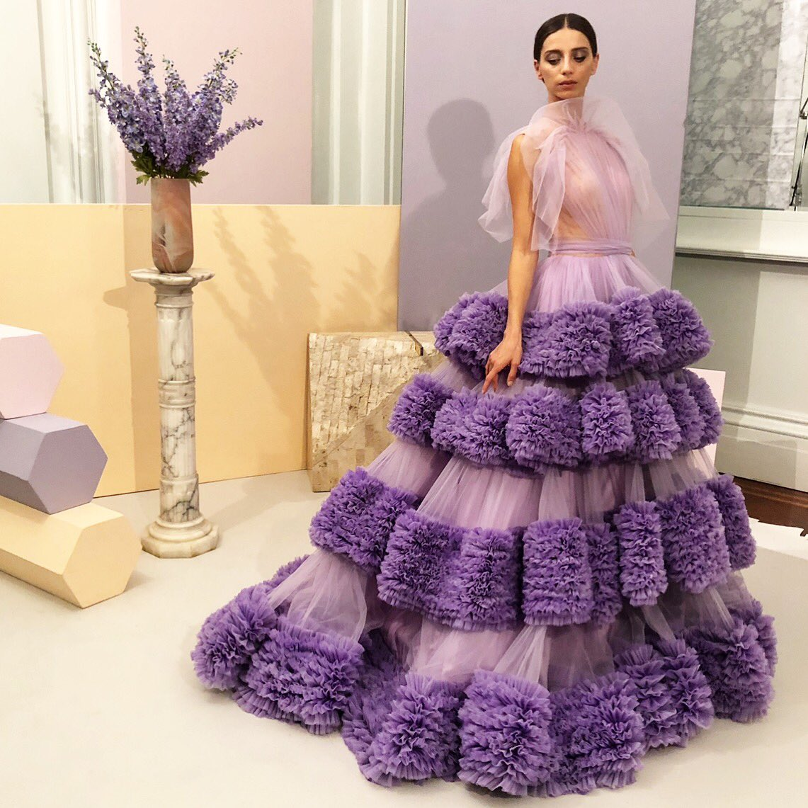 Thursday night dreaming of this! 💜 #prefall2019 @AngelaSarafyan #tbt