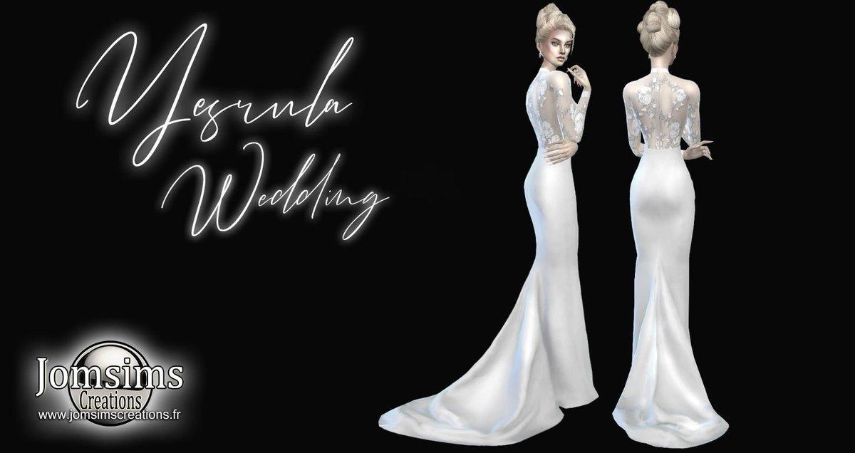 Sims 4 Wedding Veil.Jomsims On Twitter Yesrula Wedding Dress Sims 4 For Her