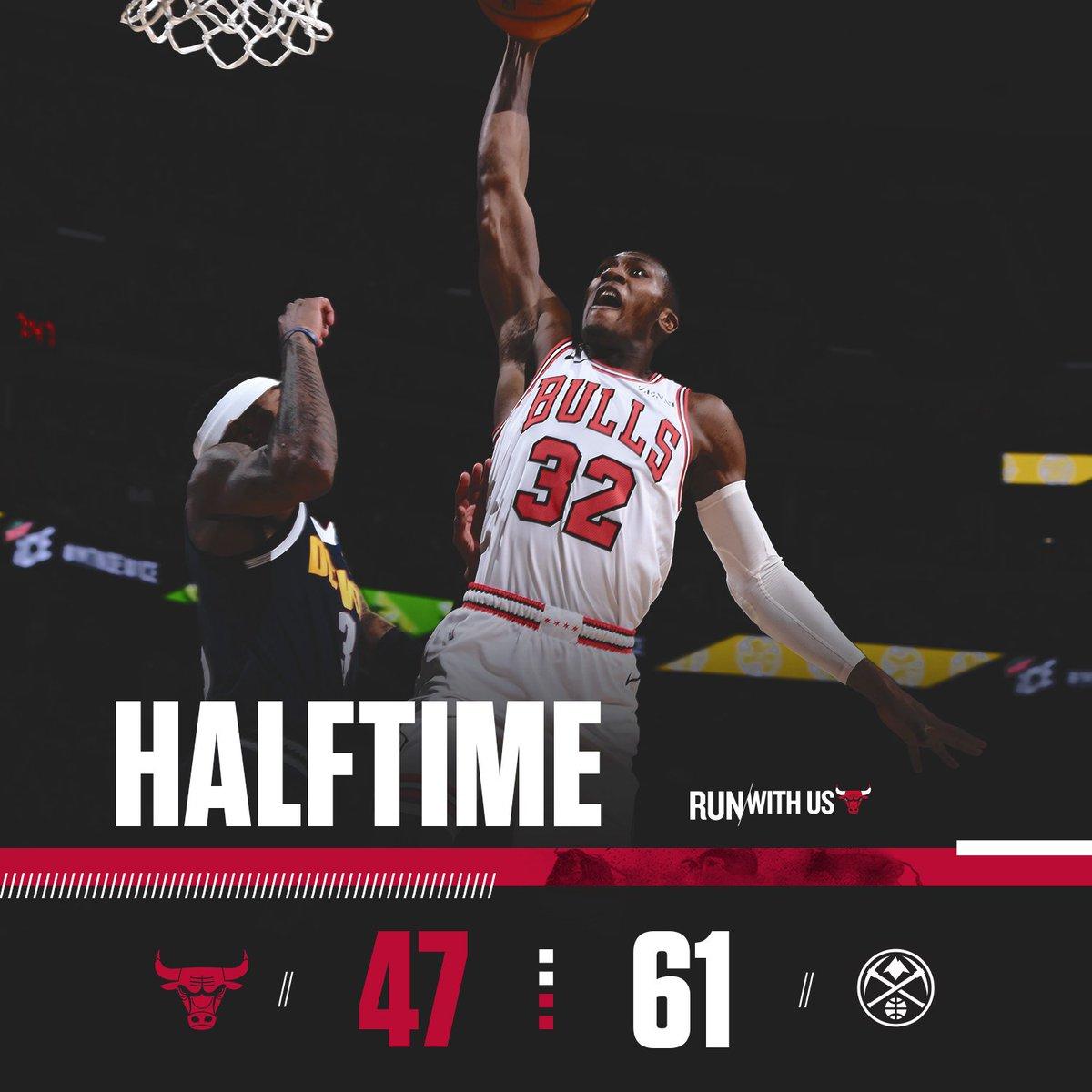 #Bulls trail after two, 61-47.  Markkanen: 20pts / 7reb  Parker: 9pts / 1reb Lopez: 6pts / 4reb