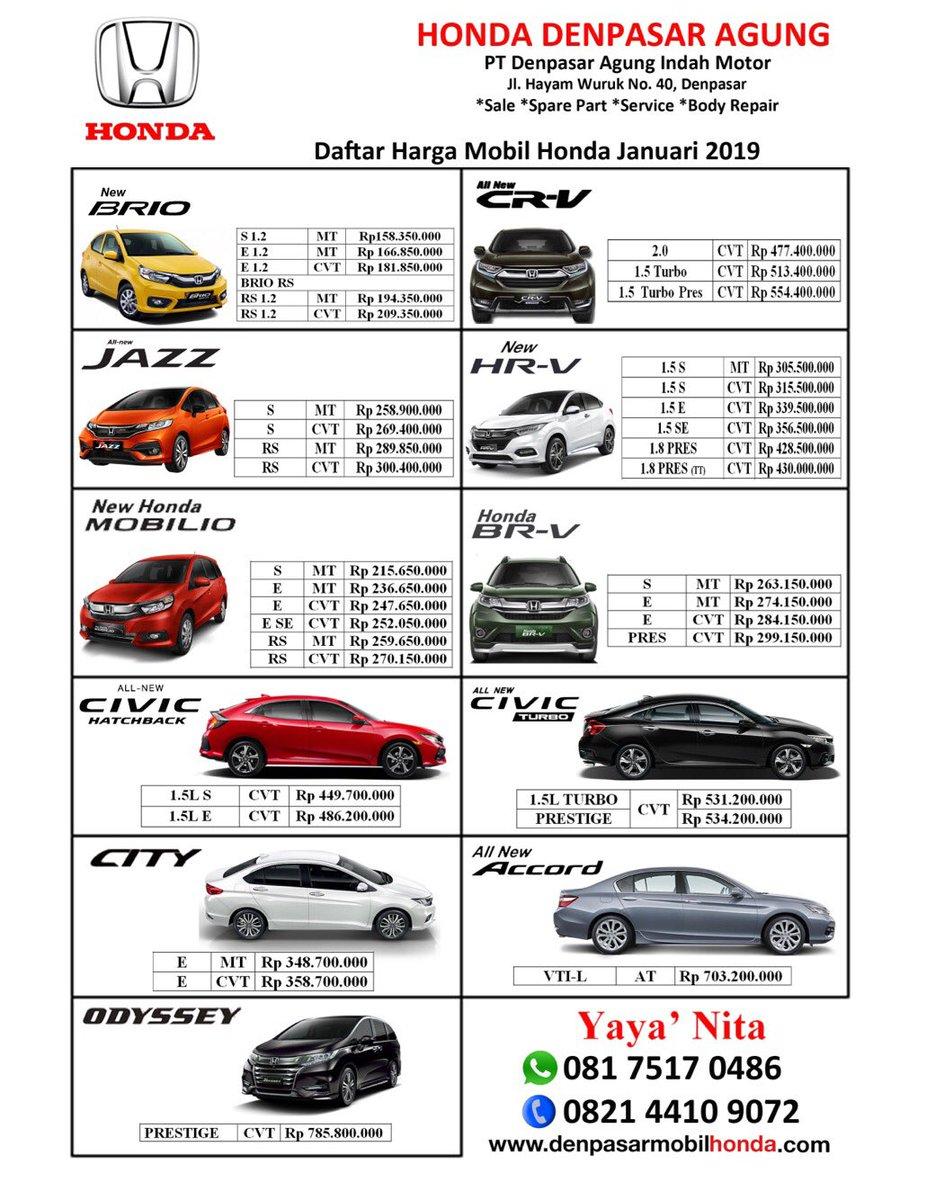 Kelebihan Daftar Mobil Honda Murah Berkualitas