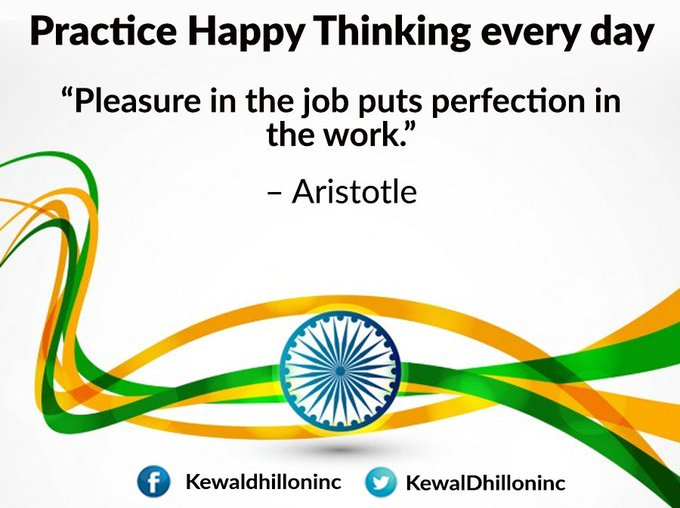 Pleasure in the job puts perfection in the work- Aristotle #FridayFeeling #FridayThoughts Photo