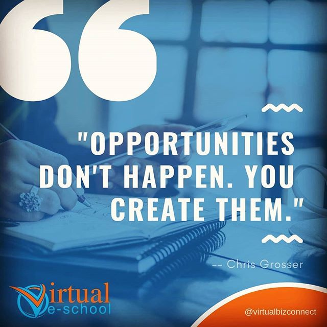 Create your own opportunities. Never give up. Even brick walls can be knocked down.  #virtualeschool #veschool #virtualbizconnect #entrepreneur #nevergiveup #createopportunities #smallbusiness #virtualassistant  http:// bit.ly/2VXdwH3  &nbsp;   <br>http://pic.twitter.com/wbTUbteaPG