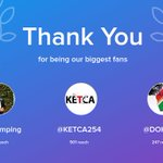 Our biggest fans this week: @Faypumping, @KETCA254, @DOHG14. Thank you! via https://t.co/WE80TROtWi