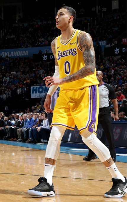 The @Lakers come back from down 17 to take the lead into the break on @NBAonTNT! #LakeShow 67 #ThunderUp 63 Kyle Kuzma: 13 PTS, 3 3PM Josh Hart: 9 PTS, 2 3PM Terrence Ferguson: 15 PTS, 5 3PM Paul George: 14 PTS, 5 REB, 4 AST Photo