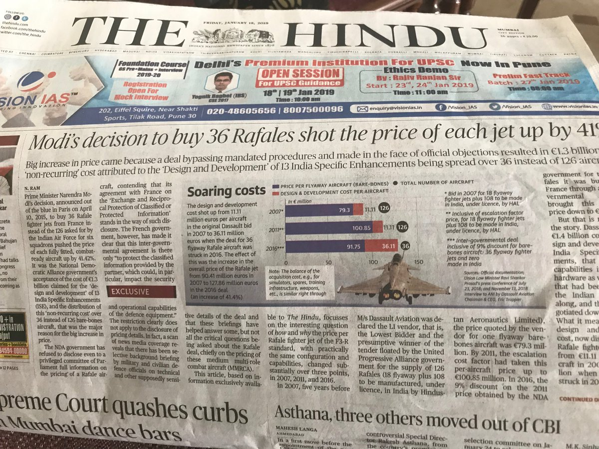 More proof of the #RafaleScam and why #ChowkidarHiChorHai . Modi must explain or resign.
