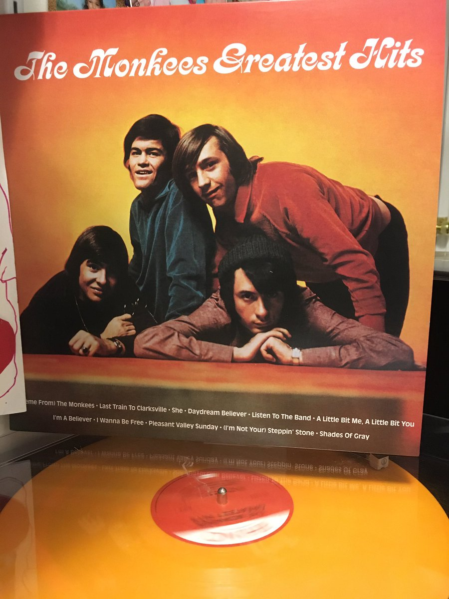Digging this new reissue from @Rhino_Records on glorious orange vinyl. @themonkeestour @TheMonkees @TheMickyDolenz1