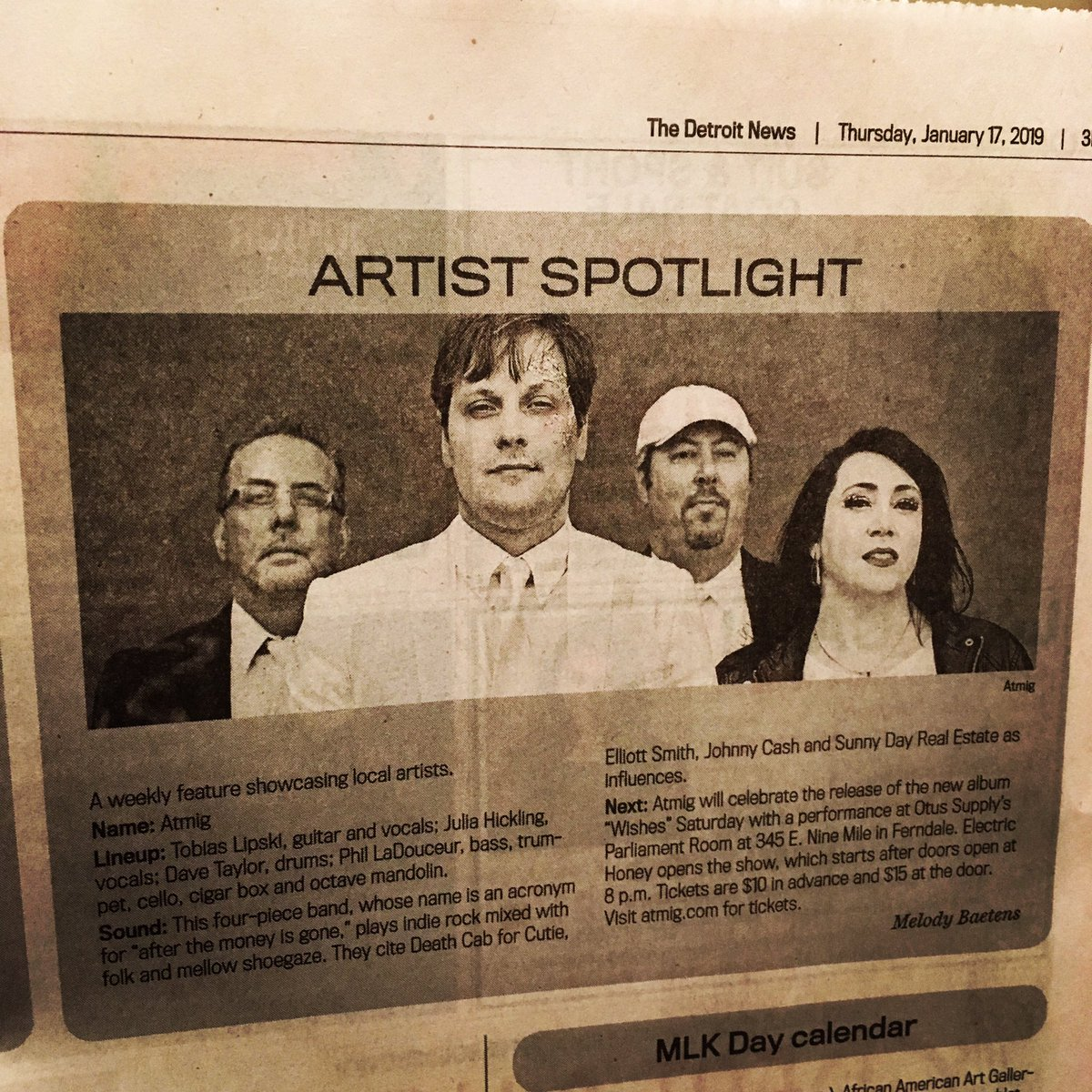 Who caught us in the @detroitnews today? #WishesLP