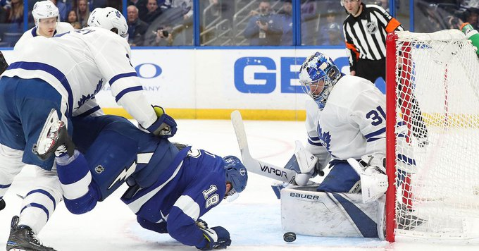 Frederik Andersen returns the favor as Lightning fall to Maple Leafs 4-2 #Bolts Photo
