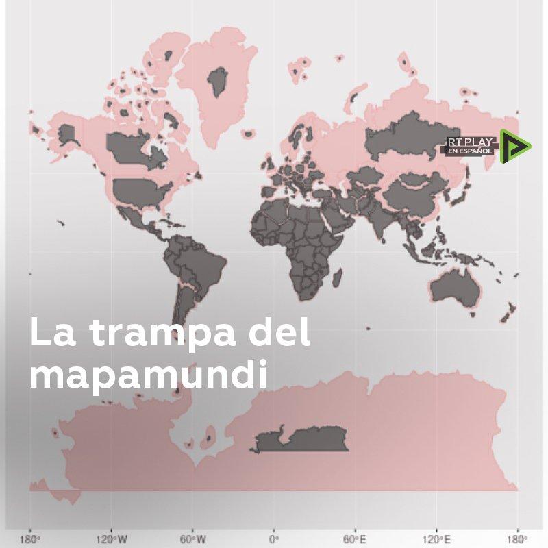 Los mapas más populares muestran a los países del norte más grandes de lo que realmente son