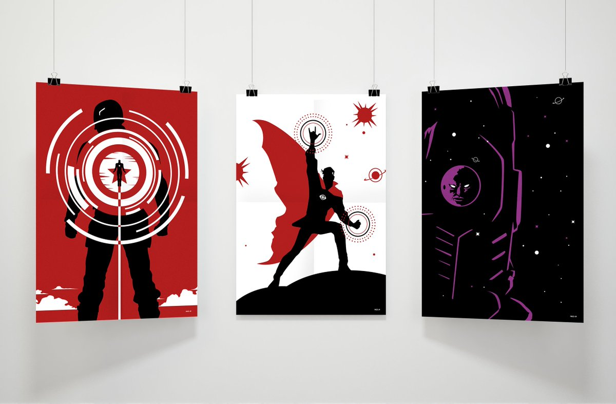 First part of my #Marvel Phase 3 &quot;super minimalist posters&quot;! Here are #CaptainAmerica Civil War, Doctor Strange and #GuardiansOfTheGalaxy Vol 2. To be continued... #design #illustration <br>http://pic.twitter.com/Q008SH9Xwj