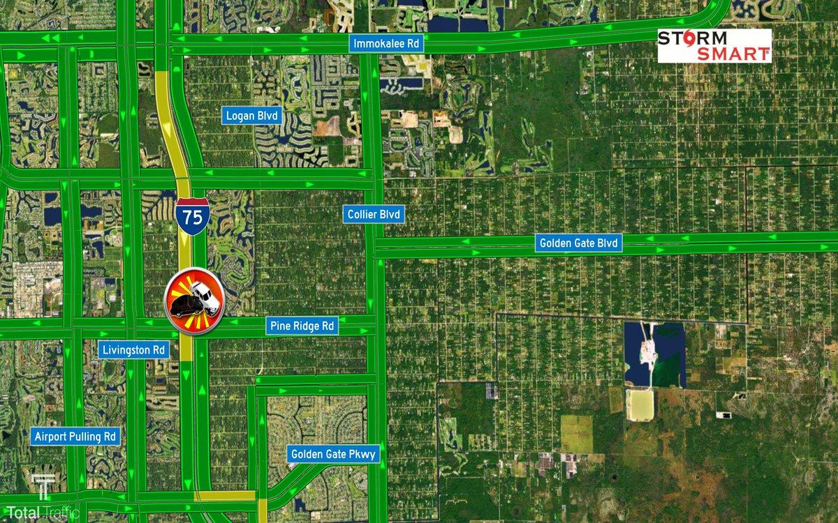 #FHP reporting a crash on #I75 SB near MM 107 (Pine Ridge Rd). No roadblock #SWFL #CollierCounty #TrafficAlert @NBC2<br>http://pic.twitter.com/gccWFgzZRM
