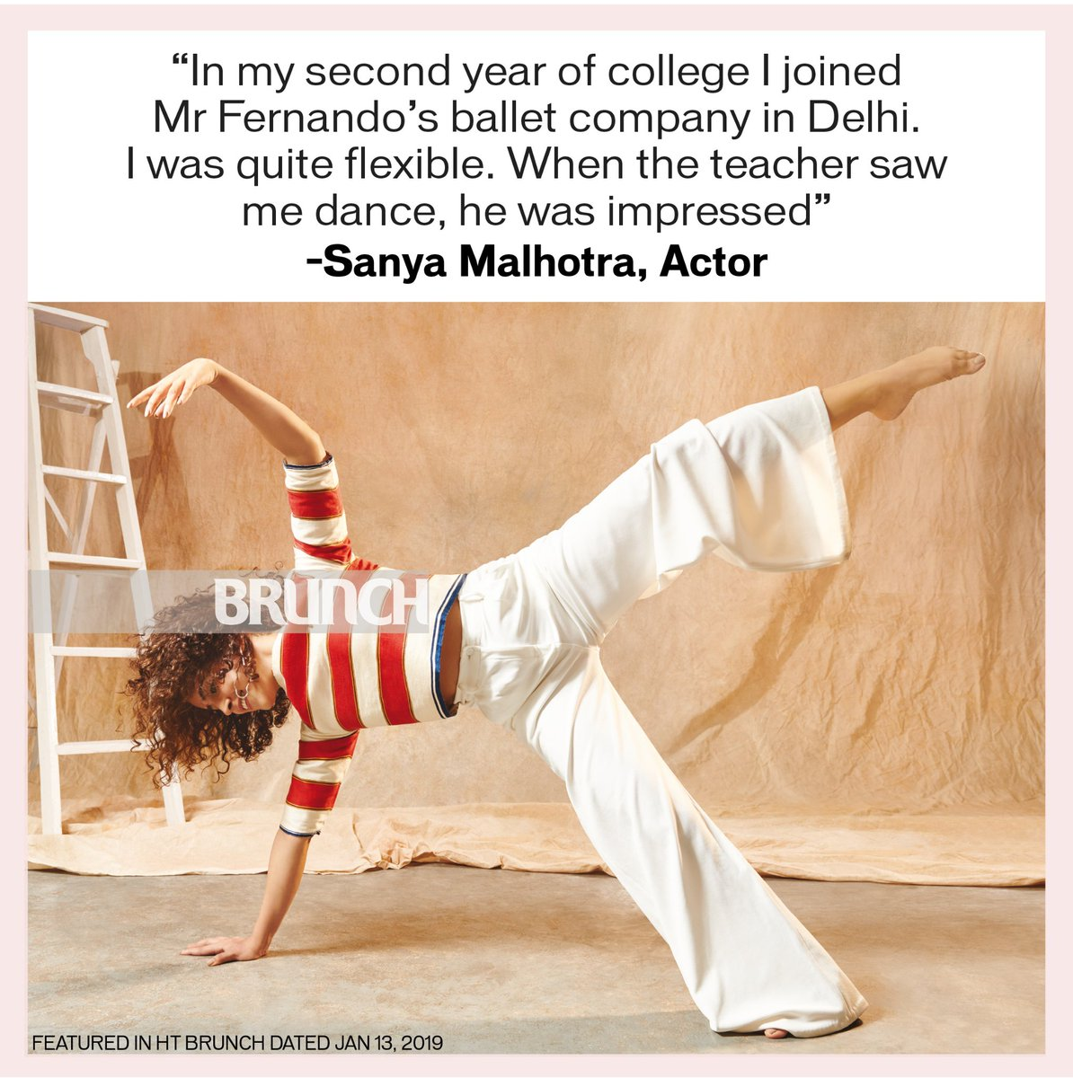 Sanya Malhotra is not just a good actor but a great dancer too. And, she even worked as a dance teacher before Dangal happened.@sanyamalhotra07 @htshowbiz  @htlifeandstyle