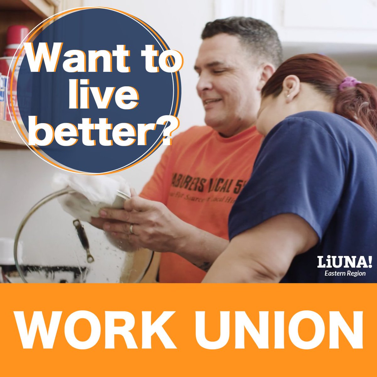 Do you want better pay? Do you want better training? Do you want better working conditions? Do you want better health and retirement benefits?  Do you just want to live better?  Then there's only one answer: Work #Union!  Get access to all this and more.  #LIUNA #Solidarity #1u