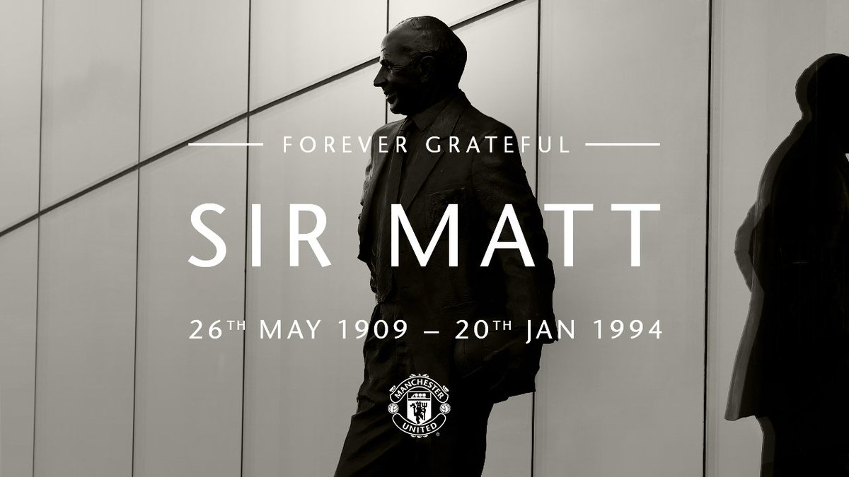 Today marks 25 years since Sir Matt Busby passed away.  His legacy lives on at #MUFC.