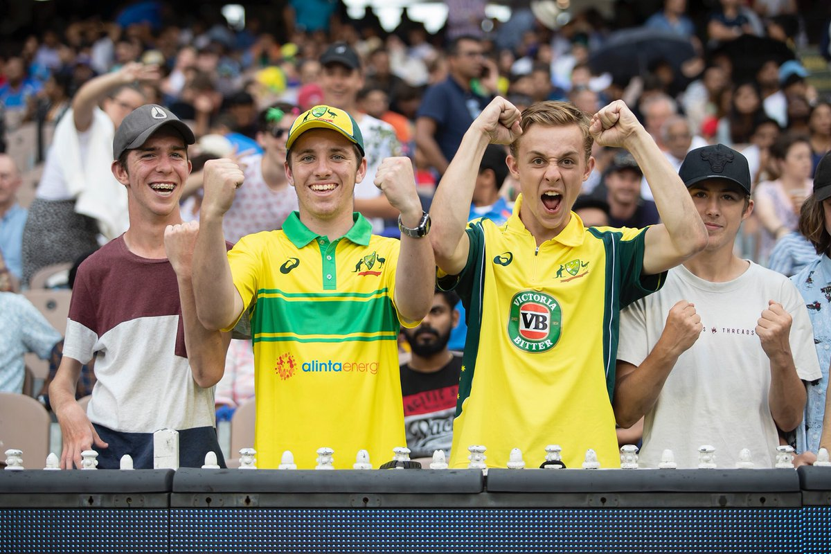 The official attendance at today's #AUSvsIND ODI is 53,603