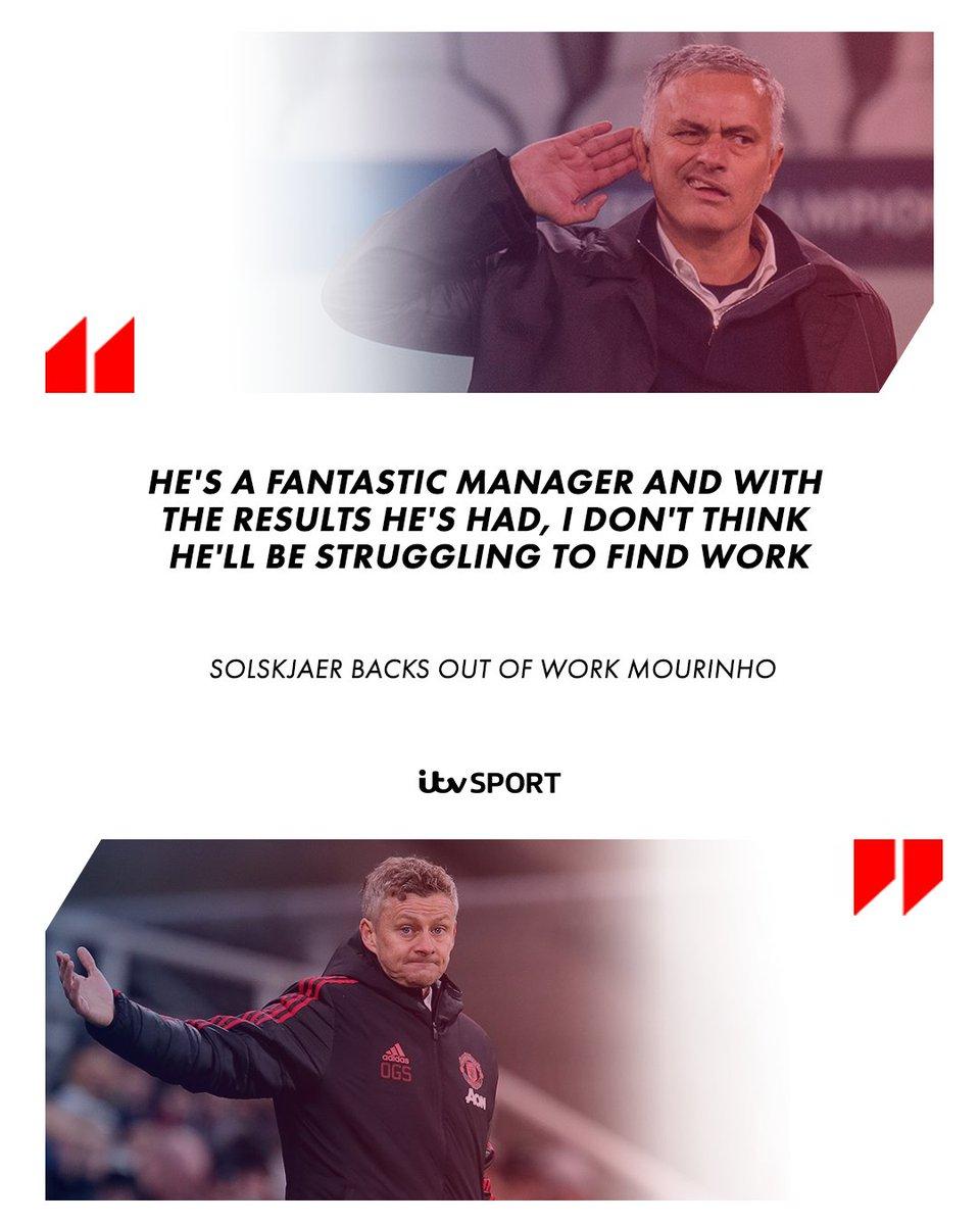 Solskjaer backs out of work Mourinho in job hunt  https://t.co/NpUFqiXGTN  #MUFC