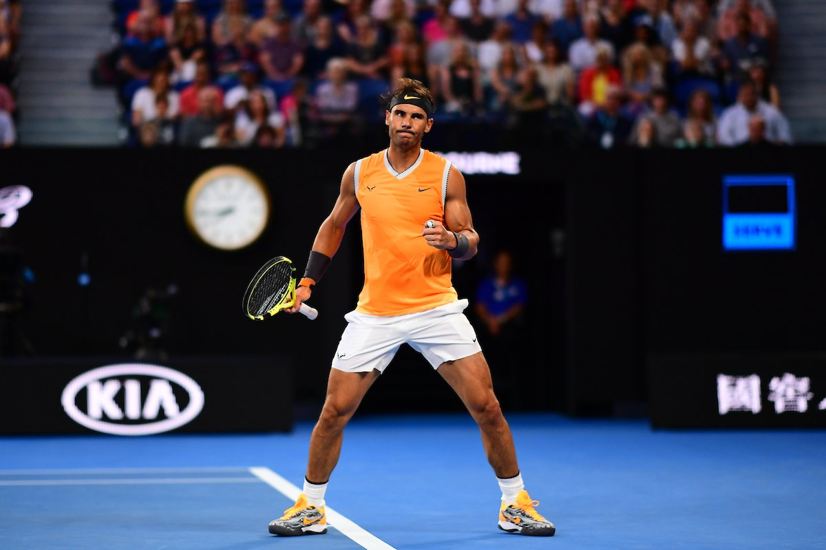 Welcome to the Rafa show 💪  @RafaelNadal def. his third Aussie opponent in Alex De Minaur 6-1 6-2 6-4 to reach the 4R at the #AusOpen for the 1⃣2⃣th time.