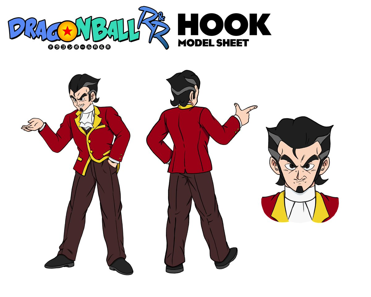 "Oh yeah, here's one more ""gift"" for those who haven't seen it.  Originally posted by @EmperorBigD, here's the official ""Captain Hook"" character sheet by myself and @HoneyNutQu33rio! #DragonBallRR @MasakoX"