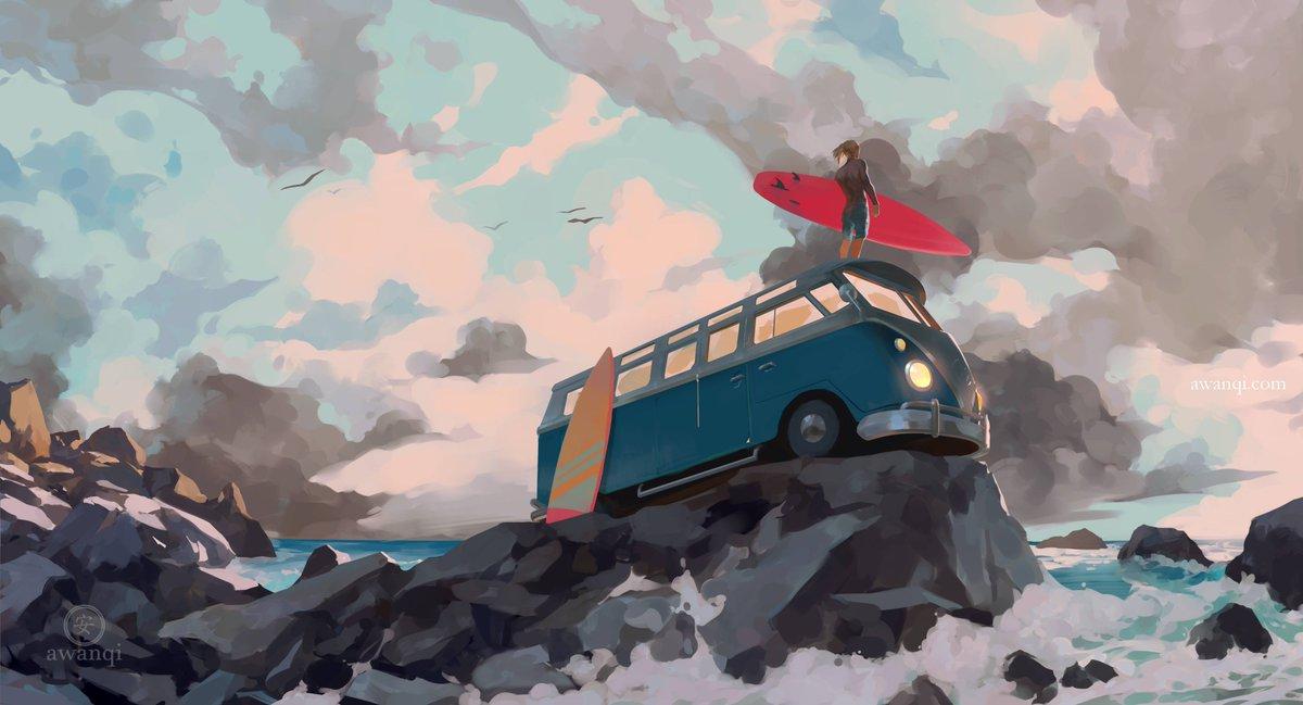 take a break :) #illustration #art #ocean #landscape<br>http://pic.twitter.com/IF2Ag8tGLU