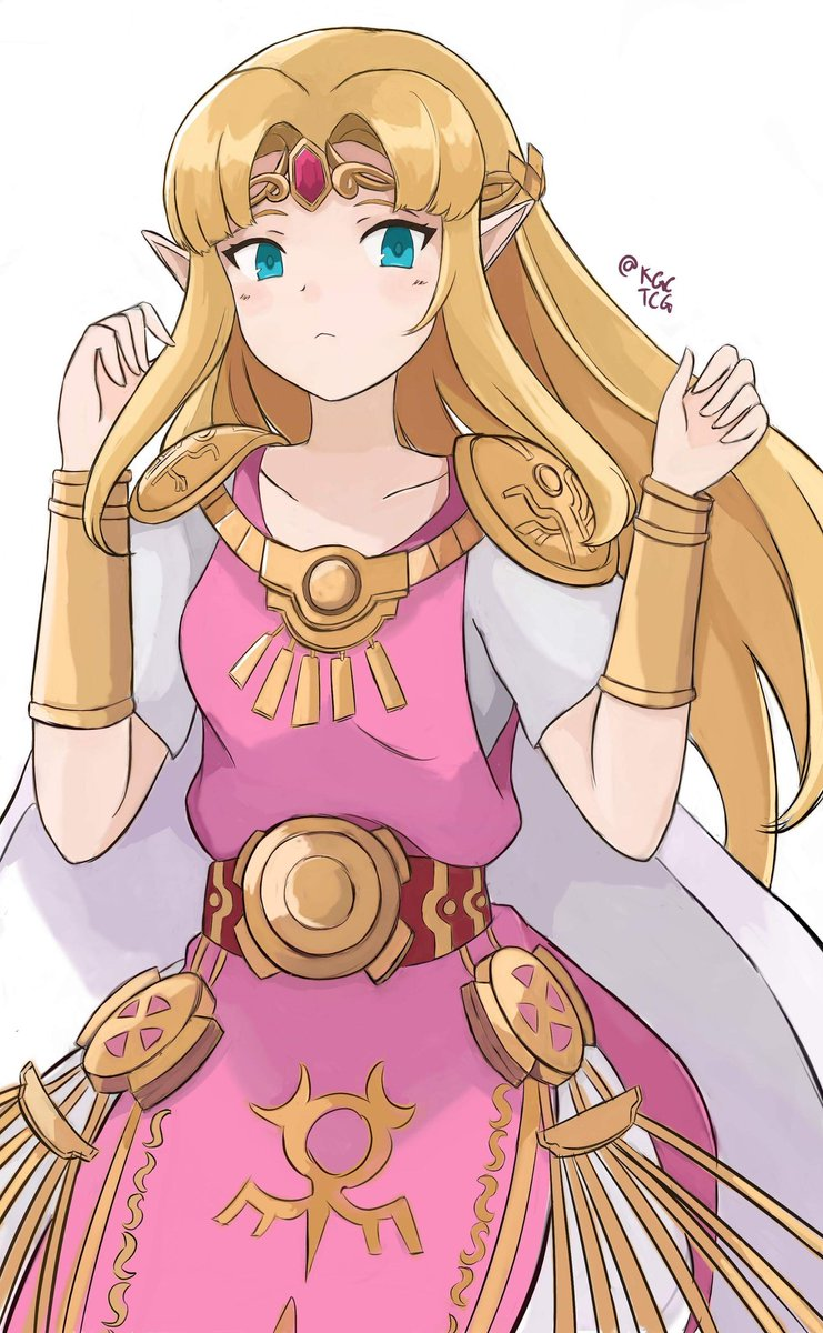 Here&#39;s my finished illustration of the Princess of Hyrule, Zelda! <br>http://pic.twitter.com/JRVhmg8oRl